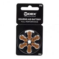 Батарейки Widex 312 для слуховых аппаратов
