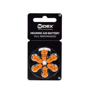 Батарейки Widex для слухового аппарата типа 13
