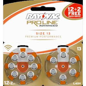 Батарейки 13 для слуховых аппаратов (12шт. + 2шт. БЕСПЛАТНО)
