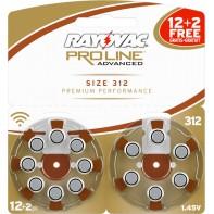 Батарейки 312 для слуховых аппаратов (12 шт. + 2шт. БЕСПЛАТНО)